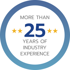 MORE THAN 25 YEARS OF INDUSTRY EXPERIENCE